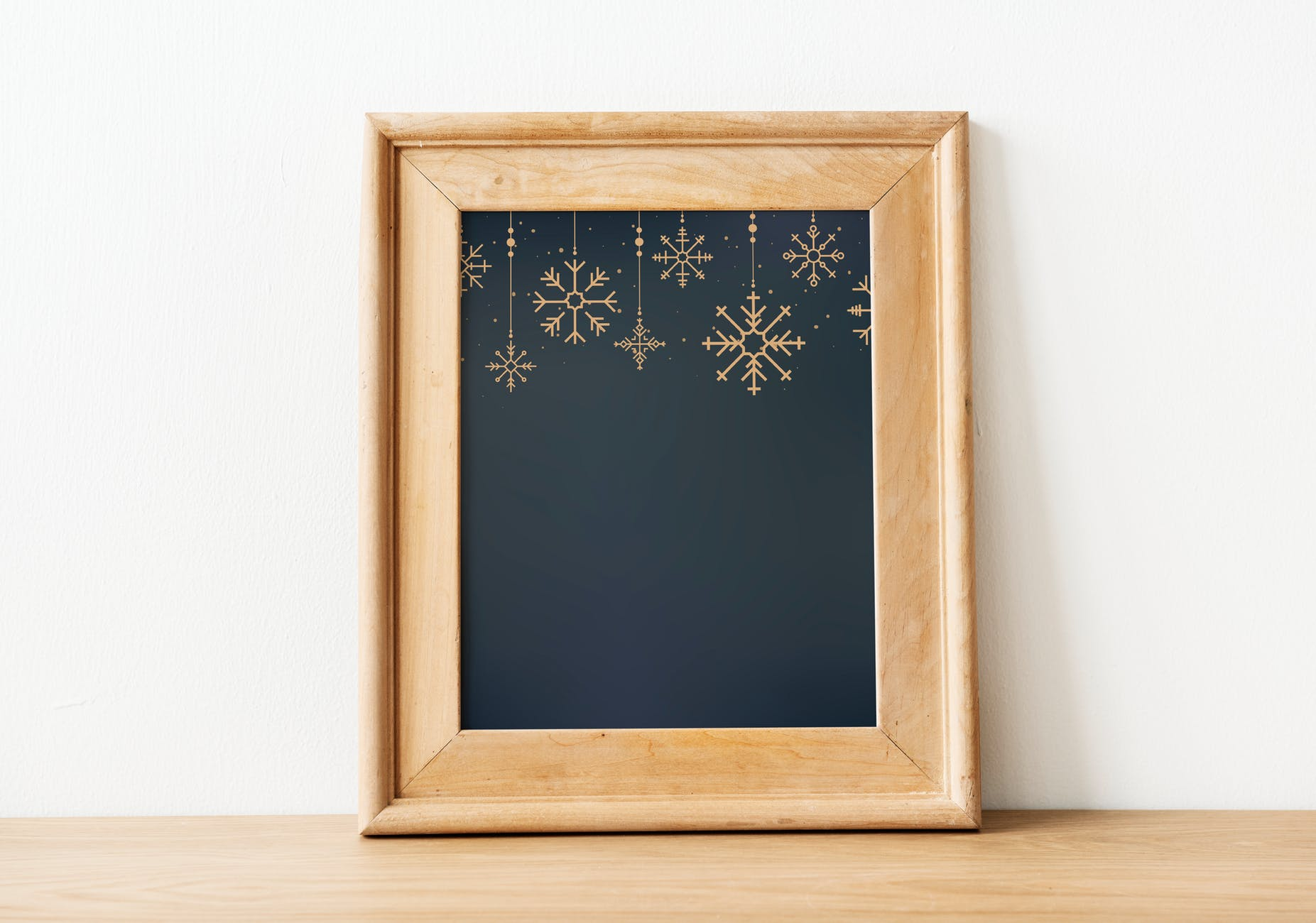 brown wooden picture frame